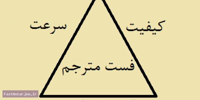 هزینه ، زمان و کیفیت : مثلث مدیریت پروژه های ترجمه